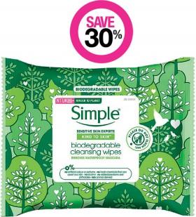 Save-30-on-Simple-Skincare-Range on sale