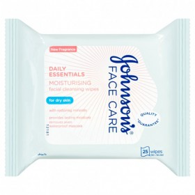 Johnsons-Daily-Essentials-Nourishing-Facial-Cleansing-Wipes-25-Wipes on sale