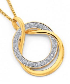 9ct-Gold-Diamond-Pendant on sale