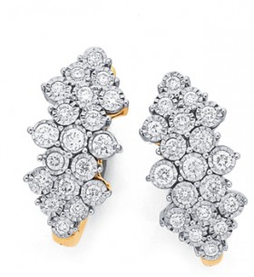 9ct-Gold-Diamond-Earrings on sale