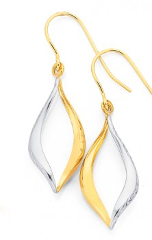 9ct-Gold-Two-Tone-Earrings on sale