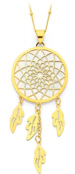 9ct-Gold-Dreamcatcher-Pendant-with-White-Mother-of-Pearl on sale