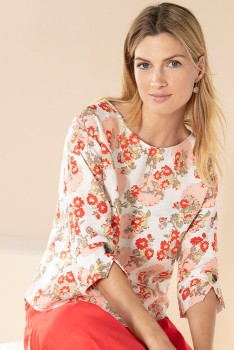 Emerge-Linen-Button-Cuff-Top on sale