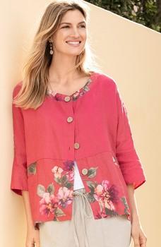 Capture-Linen-Button-Up-Oversize-Shirt on sale