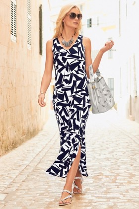 Kaleidoscope-Printed-Maxi-Dress on sale