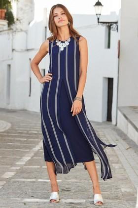 European-Collection-Split-Front-Dress on sale
