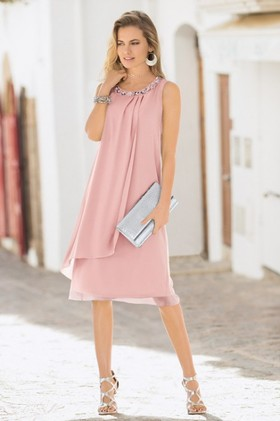 European-Collection-Drape-Front-Dress on sale