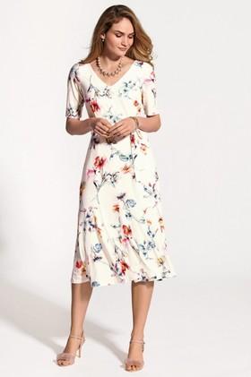 Kaleidoscope-Printed-Midi-Dress on sale