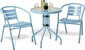 Cancun-3Pce-Steel-Cafe-Setting on sale
