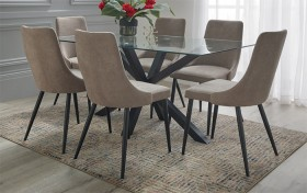 NEW-Blakely-7-Piece-Dining-Set-with-Lyon-Chairs on sale