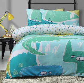 30-off-Ombre-Blu-Jungle-Madness-Quilt-Cover-Set on sale
