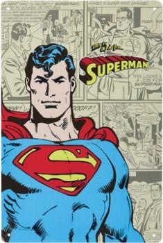 Superman-Tin-Sign on sale