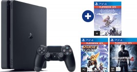 PS4-1TB-Slim-Console-3-Selected-Playstation-Hits-Games on sale