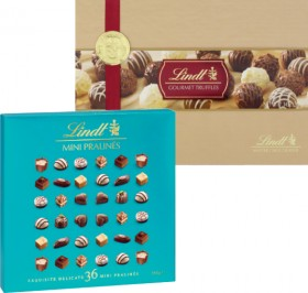 Lindt-Mini-Pralines-180g-or-Truffles-207g on sale