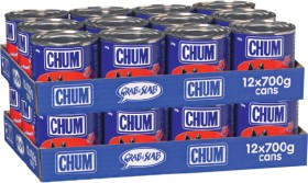 Chum-12-Pack-Dog-Food-Can-Varieties-700g on sale