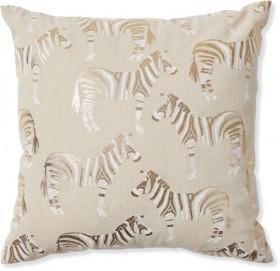 Zebra-Print-Cushion on sale
