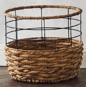 Metal-Net-Round-Baskets on sale