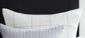 Hampton-Grid-Linen-Euro-Pillowcase-Pair on sale