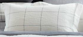 Hampton-Grid-Linen-Pillowcase-Pair on sale
