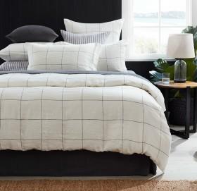 Hampton-Grid-Linen-Duvet-Cover-Set on sale