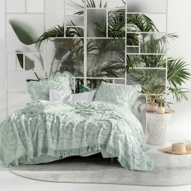 Somers-Mint-Bed-Cover-by-Linen-House on sale