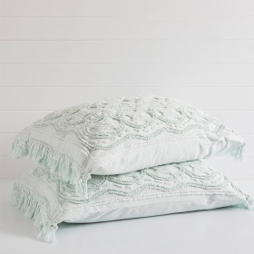 Somers-Mint-Pillowcase-Sham-Pair-by-Linen-House on sale