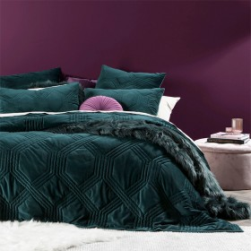 Grace-Micro-Plush-Hunter-Green-Quilted-Blanket-by-M.U.S.E on sale