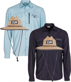 Daiwa-Fishing-Shirt-Straw-Hat-Pack on sale
