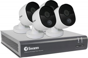 Swann-4-Channel-DVR-Kit-with-4-x-1080p-PIR-Cameras on sale
