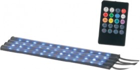 NEW-4-x-RGB-LED-Light-Strips-for-Car-Interiors on sale