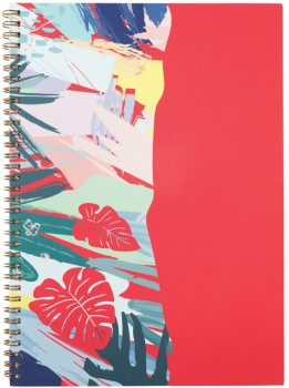 A4-Spiral-Notebook-120-Pages-Coral on sale