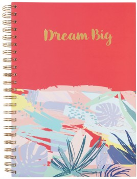 A4-5-Subject-Spiral-Notebook-240-Pages-Coral on sale
