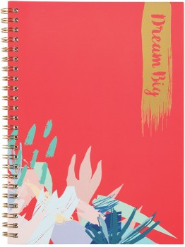 A5-Spiral-Notebook-120-Pages-Coral on sale