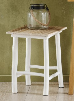 NEW-Ombre-Home-Beautiful-Blossom-Wooden-Stool-35x45cm on sale