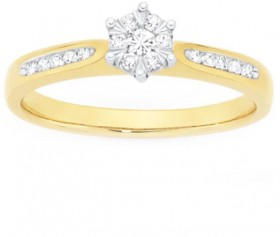 9ct-Gold-Diamond-Engagement-Ring on sale