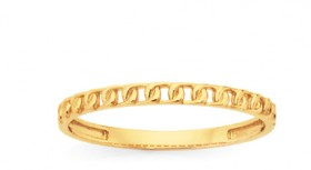 9ct-Gold-Fine-Curb-Stacker-Ring on sale