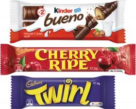 Cadbury-Medium-Bar-30g-60g-or-Kinder-Bueno-Bar-39g-43g on sale