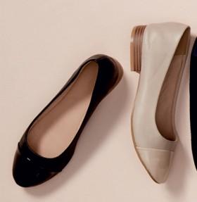 Simply-Vera-Vera-Wang-Audrey-Patent-Toe-Cap-Ballet on sale
