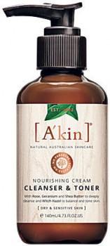 Akin-Nourishing-Cream-Cleanser-Toner-140mL on sale