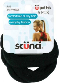 Scunci-Knitted-Pony-Wraps-Black-5-Pack on sale