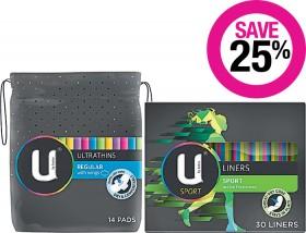 Save-25-on-U-by-Kotex-Feminine-Hygiene-Range on sale