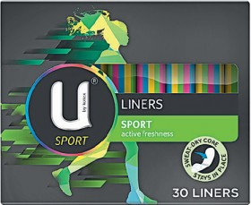 U-By-Kotex-Sport-Active-Freshness-Liners-30-Pack on sale