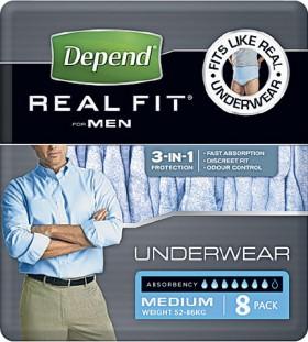 Depend-Realfit-Underwear-for-Men-Medium-8-Pack on sale