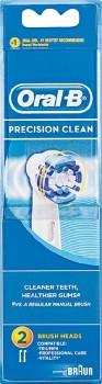 Oral-B-Precision-Clean-Replacement-Electric-Toothbrush-Heads-2-Pack on sale