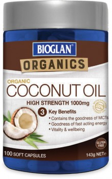 Bioglan-Superfoods-Coconut-Oil-100-Capsules on sale