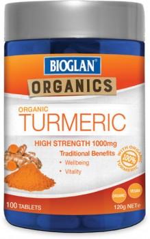 Bioglan-Organic-Turmeric-1000mg-100-Tablets on sale