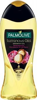 NEW-Palmolive-Luminous-Oils-Shower-Gel-Invigorating-Macadamia-Oil-with-Peony-400mL on sale