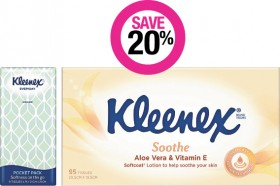 Save-20-on-Selected-Kleenex-Products on sale