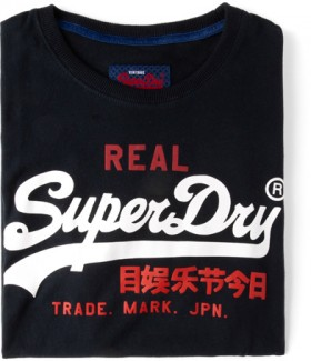 Superdry-Tee-Black on sale