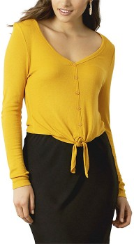 me-Button-Rib-Tie-Top on sale